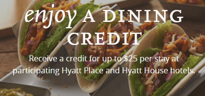 hyatt 25 dining credit