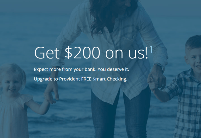 Provident Bank $200 Bonus