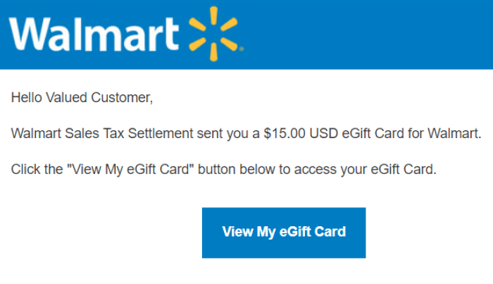 15 walmart gift cards being sent out for 2015 sales tax settlement walmart sales tax negle Gallery