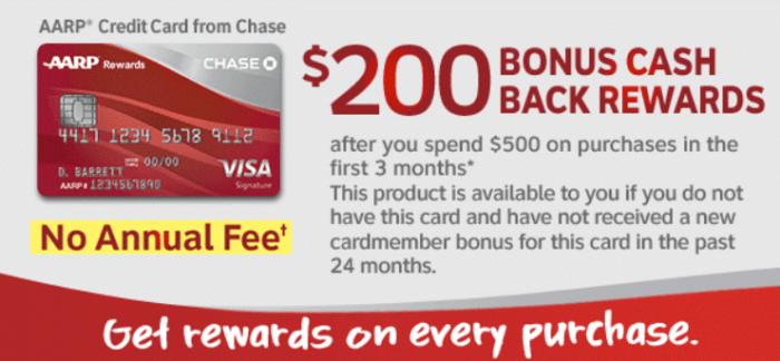Chase AARP Card 200 bonus