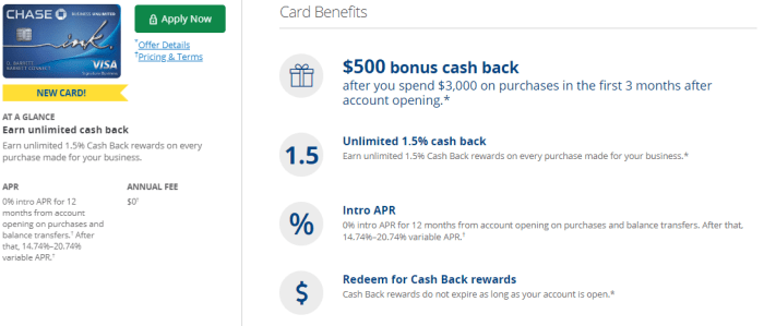 Chase Ink Business Unlimited Review