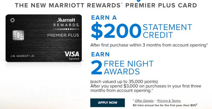 ChaseMarriott Rewards Premier Plus free nights offer