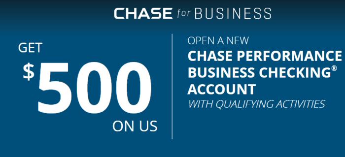 chase business checking 500 bonus