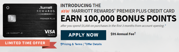 Chase Marriott Rewards Premier Plus Credit Card