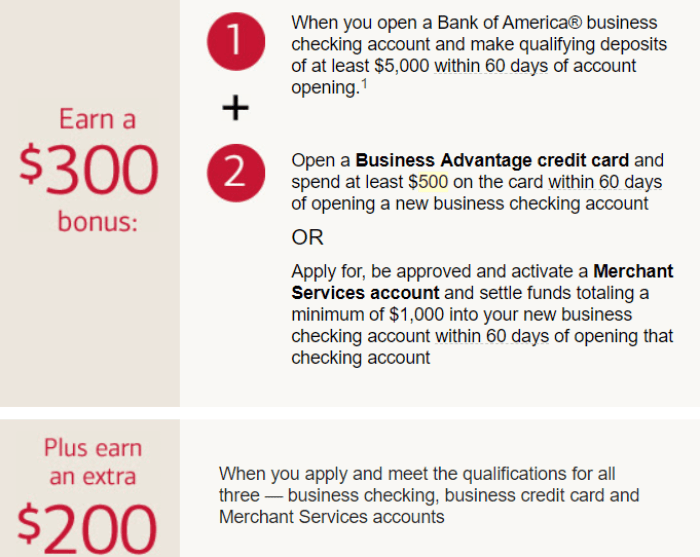 Bank of America, $500 Business Bonus - Danny the Deal Guru