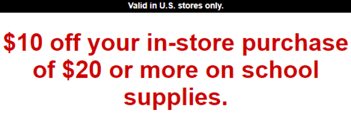 staples 10 coupon