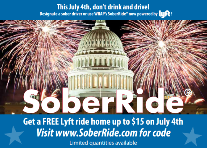 Lyft Code 4th july Washington DC