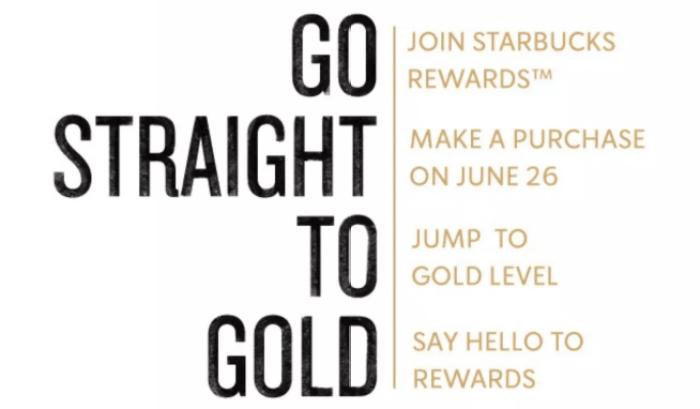 starbucks gold promo