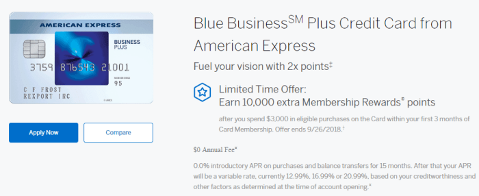 Amex Blue Business Plus 10K