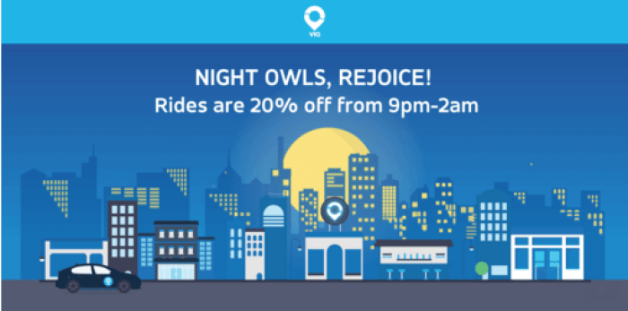 via discounted rides