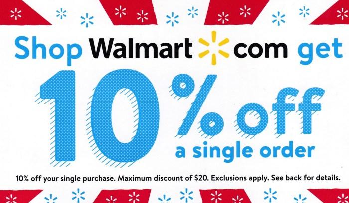 walmart 10% coupons