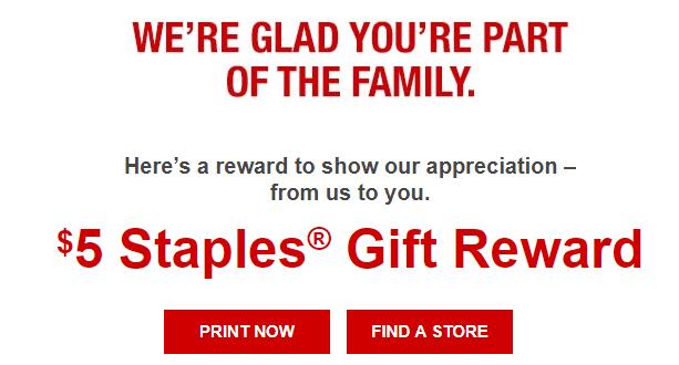 staples free $5