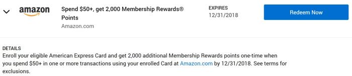 Amazon Amex Offer