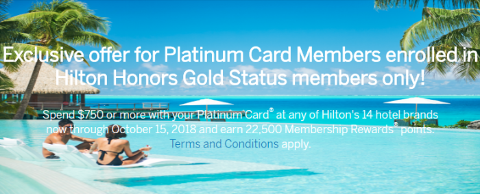 Amex Platinum Hilton Offer