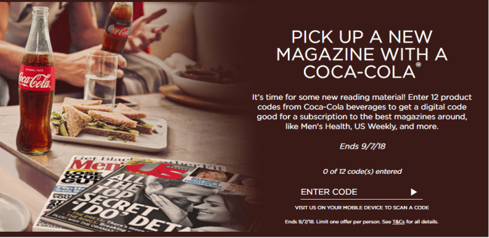 Coca Cola Rewards offers