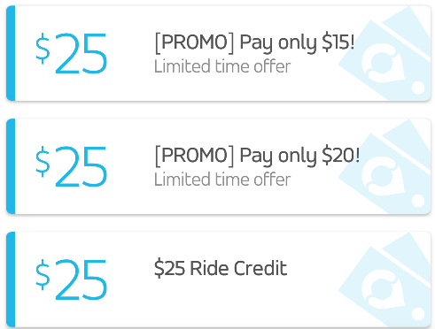 via ride credit promo