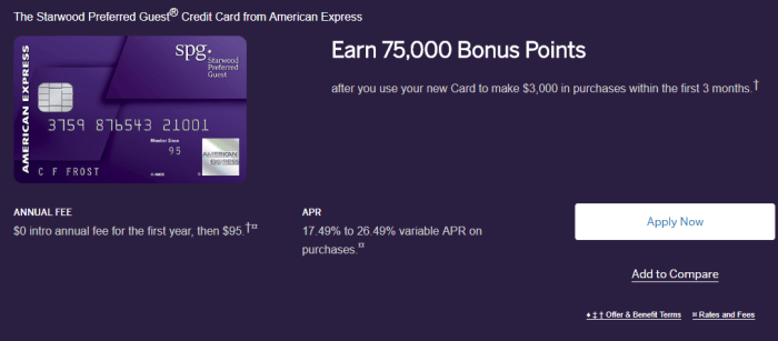 Amex SPG Credit Card Review