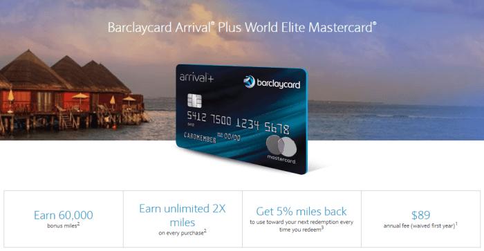 Barclaycard Arrival Plus 60K Bonus