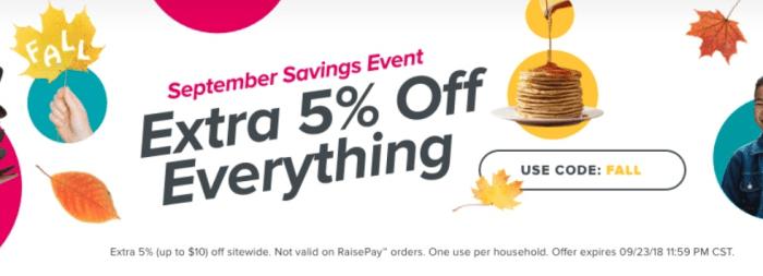 raise discount code