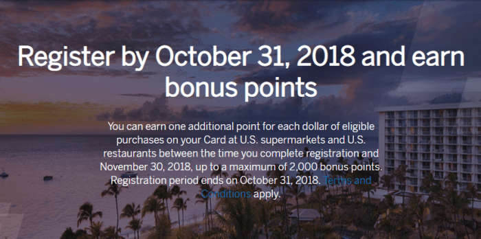 Amex SPG Offer