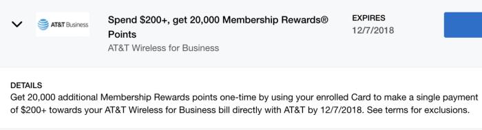 AT&T Wireless Amex Offer