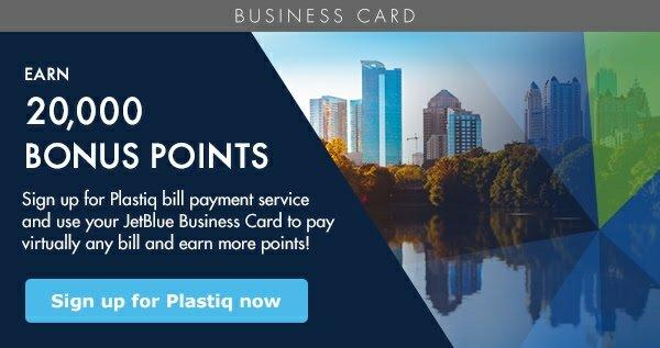JetBlue Business card plastiq offer