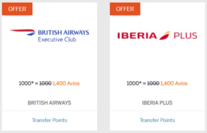 Membership Rewards Points to Avios with 40% Bonus