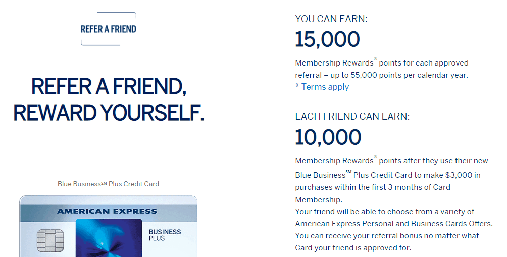 Earn 15k Points Per Referral With Amex Blue Business Plus