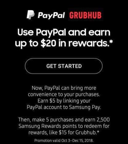 Samsung Pay promo 20