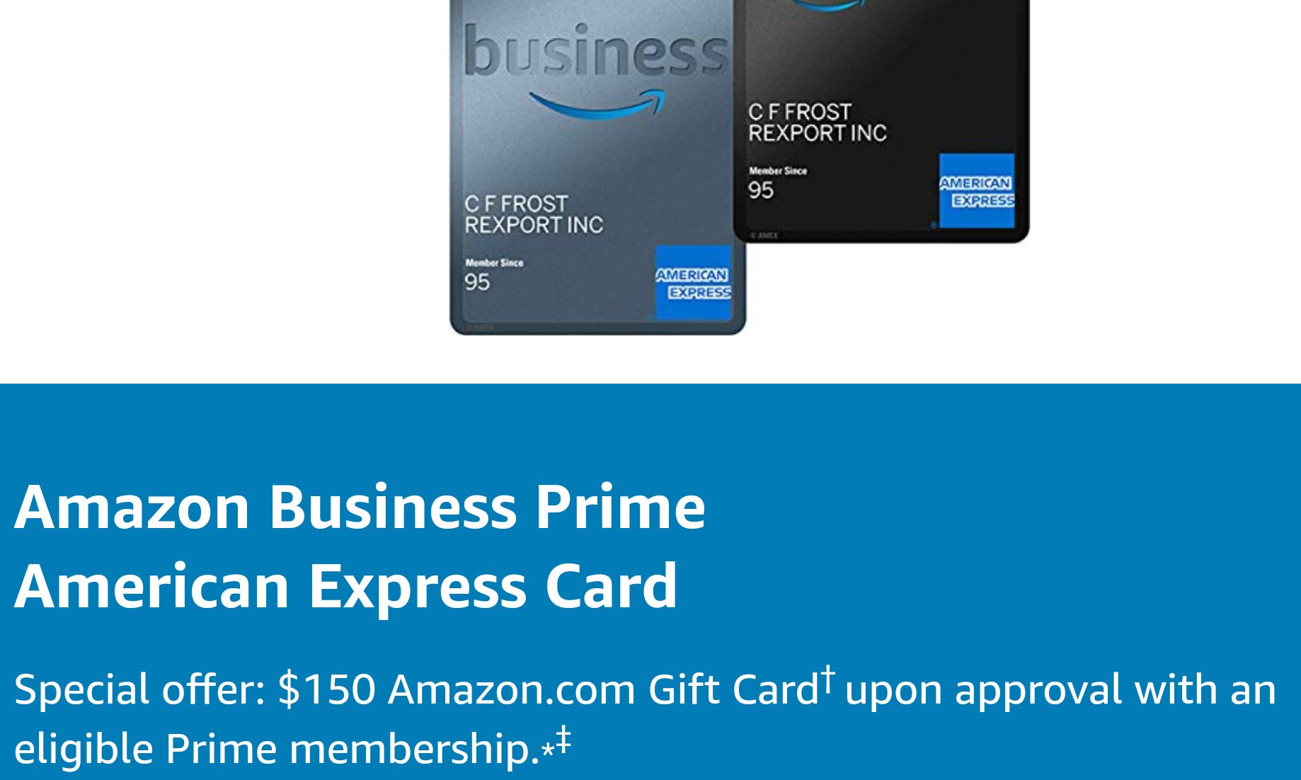 Amex Amazon Business Prime Card Increased 150 Signup Bonus Danny