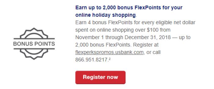 2000 Bonus FlexPoints online shopping