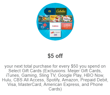 meijer gift card deal
