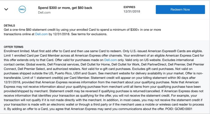 Dell Amex Offer