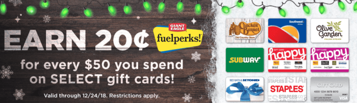 giant eagle gift cards promo