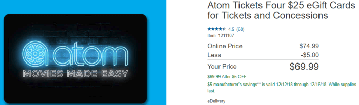 discounted atom tickets