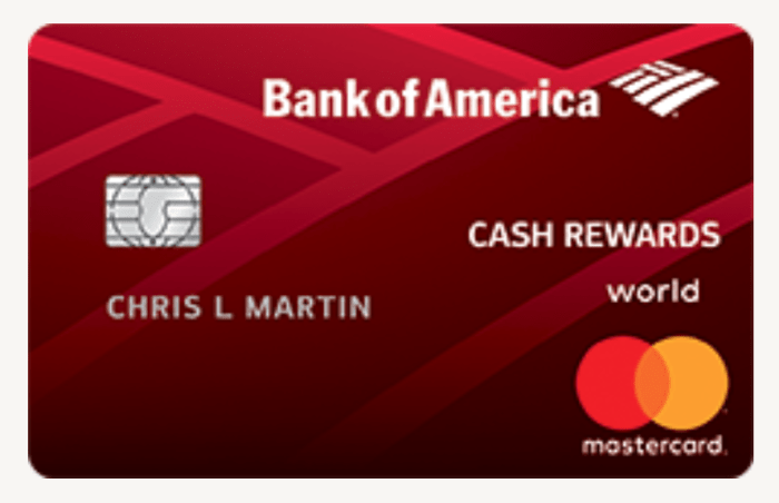 Bank of America Cash Rewards 3% Categories