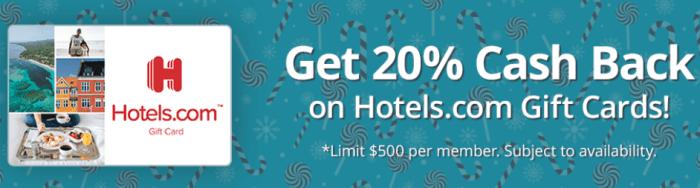 mygiftcardsplus hotels.com 20 off