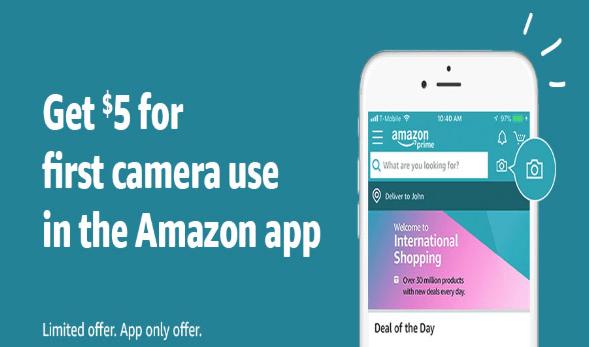 amazon app camera use $5