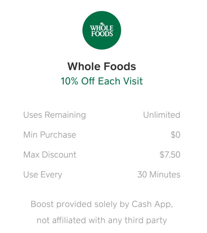Cash App Debit Card discounts