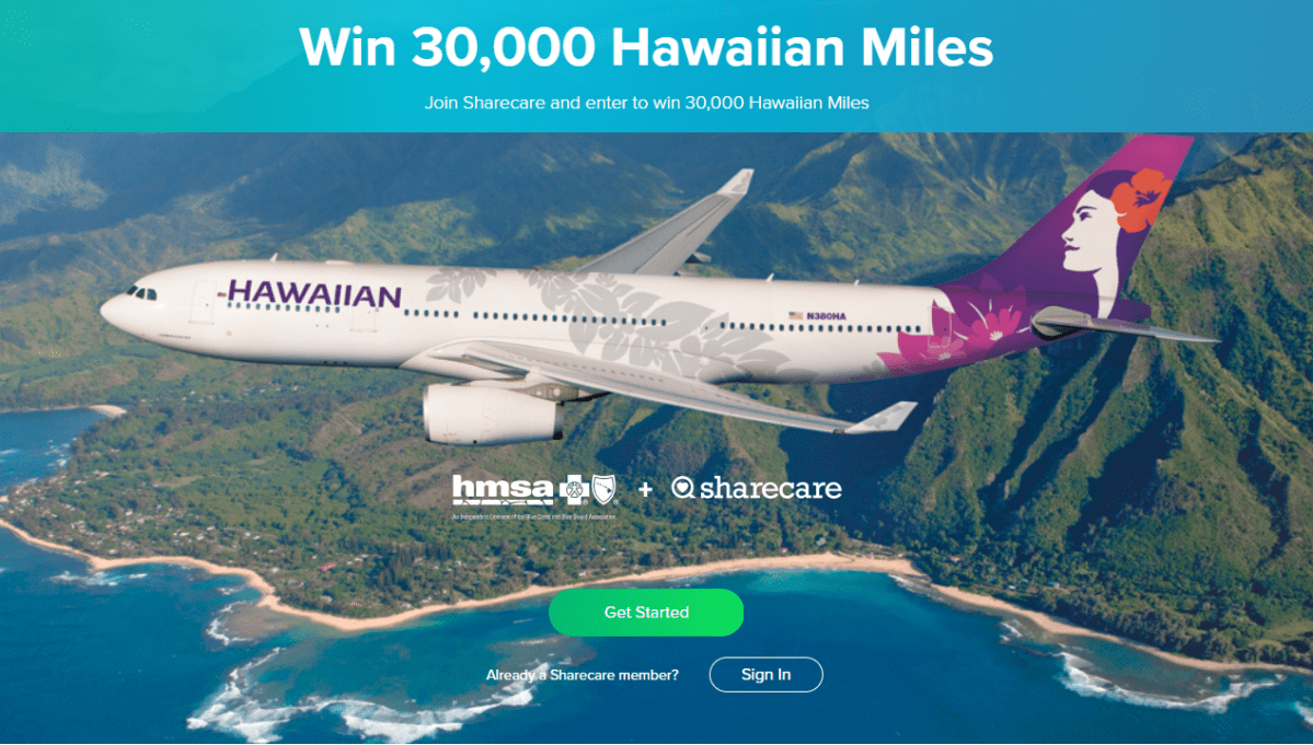 Enter to Win 30,000 Hawaiian Miles, Join Sharecare for Free