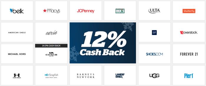 ebates 12% cashback