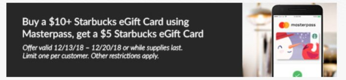 Starbucks masterpass