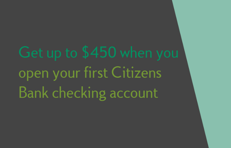 Citizens Bank Bonus Get 450 With New Checking Account Select