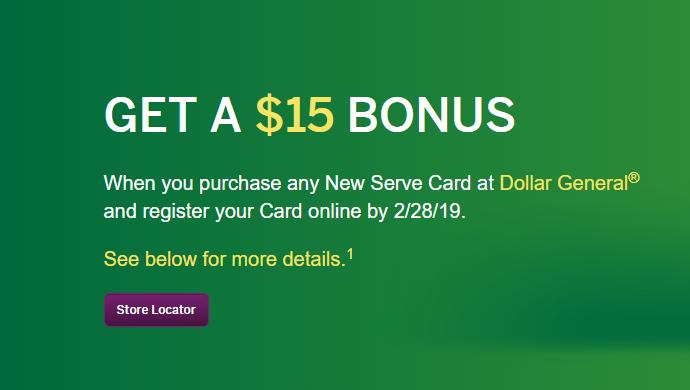 dollar general serve card