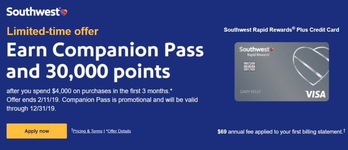 southwest companion pass offer