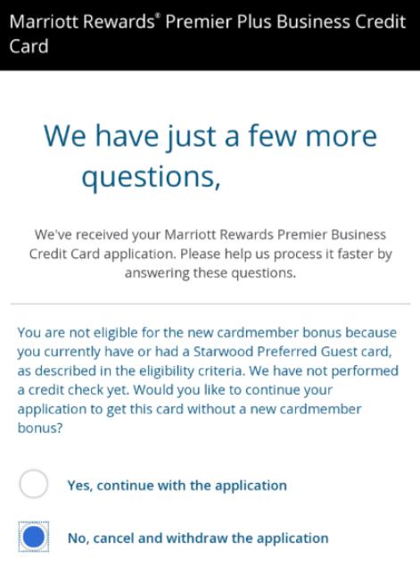 Chase Showing Bonus Eligibility Pop Up For Marriott Bonuses Danny