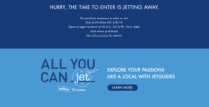 Unlimited Travel for a Year with JetBlue