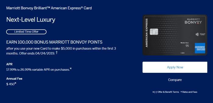 Amex Marriott Bonvoy Brilliant Card