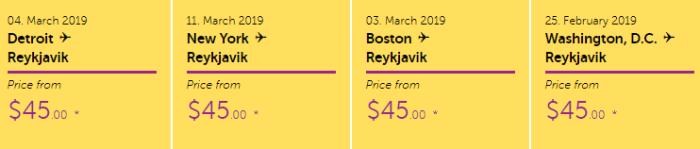 $45 Flights to Iceland