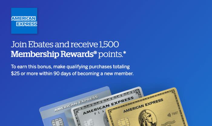 Earn Membership Rewards Points with Ebates